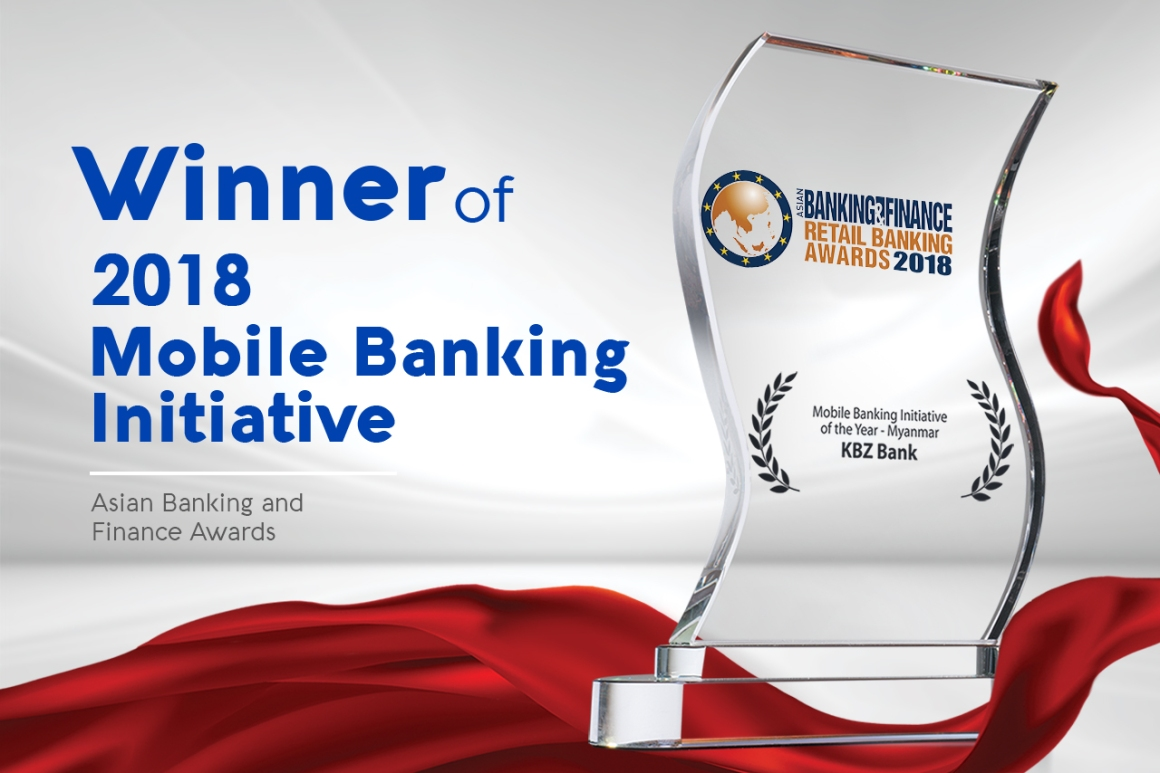 KBZ Bank wins prestigious 'Mobile Banking Initiative of the Year' in the  ABF Retail Banking Awards 2018