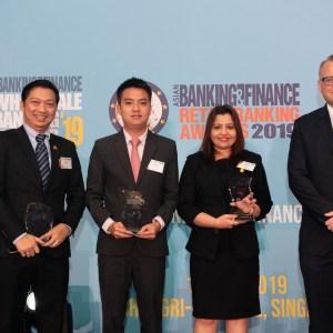 ကမ္ဘောဇဘဏ်က Asian Banking & Finance Awards 2019 ဆုပေးပွဲ အခမ်းအနားတွင် ဂုဏ်ပြုဆုများစွာ ဆွတ်ခူးရရှိ