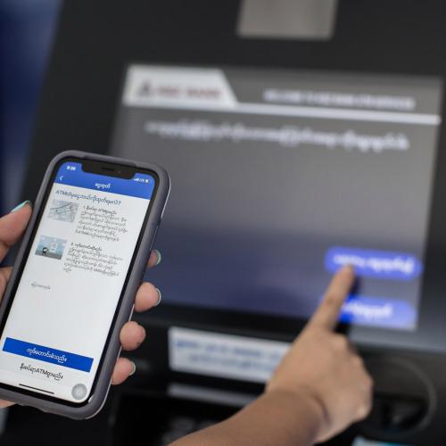KBZPay အသုံးပြုသူများ၏ စမတ်ဖုန်းသည် မိုဘိုင်းပိုက်ဆံအိတ်သာမက ATM ကတ်အဖြစ်ပါ အသုံးပြုနိုင်လာ