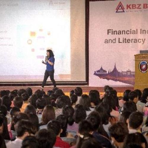 KBZPay မှ ငွေကြေးစီမံခန့်ခွဲမှုဆိုင်ရာ အသိပညာပေး အစီအစဉ်များကို တက္ကသိုလ်ကျောင်းများတွင် အထူးအလေးပေး လှုပ်ရှားဆောင်ရွက်နေ