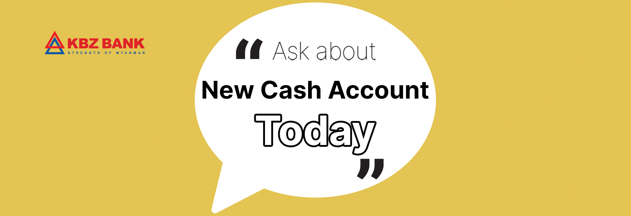 New Cash Account Saving